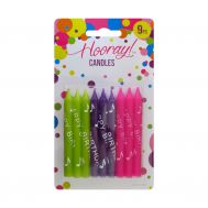 9 Candles - Green - Purple - Pink